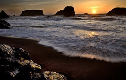 Sunset Bandon Oregon Stock Image
