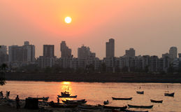 Sunset at Bandra in Mumbai Stock Photography