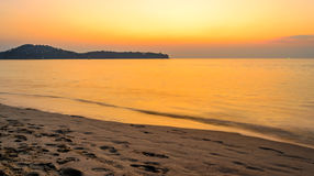 Sunset on the Bang Tao beach Royalty Free Stock Photography