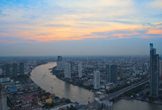 Sunset in Bangkok Royalty Free Stock Photo