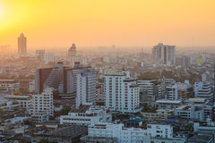 The sunset at Bangkok Stock Photography