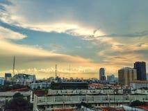 Sunset. The Sunset  in Bangkok Stock Photography