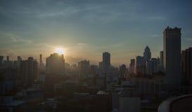 Sunset in Bangkok city, Thailand Stock Photos