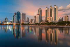 Sunset in Bangkok from day to night Royalty Free Stock Photo