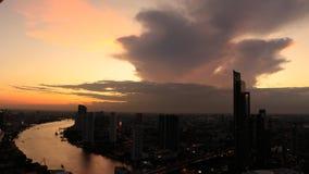 Sunset in Bangkok. Bangkok in sunset over the chao praya river Stock Photo