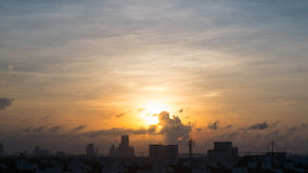 Sunset in Bangkok,Thailand Stock Photo
