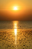 Sunset at Bangpoo beach, Thailand Royalty Free Stock Image