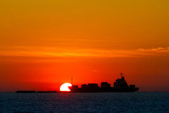 Sunset. Bangpu Sea in Thailand Stock Photos
