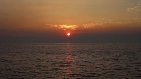 The sunset at Bangpu in Thailand stock footage