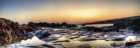 Sunset Bantham Beach Royalty Free Stock Photography