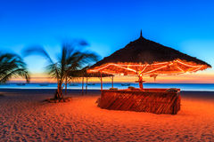 Sunset at a bar in a resort Stock Photography