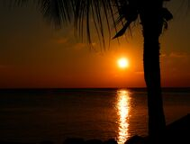 Sunset in Barbados Stock Photography