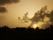 Sunset in Barbados. Sunset in the island of Barbados Royalty Free Stock Image