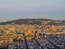 Sunset in Barcelona Stock Photo