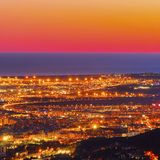 Sunset in Barcelona Royalty Free Stock Images
