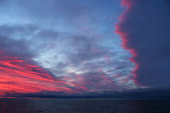 Sunset. At the Barents sea Royalty Free Stock Images