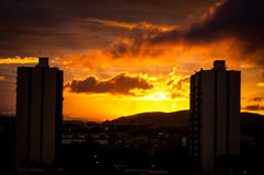 Sunset. In barquisimeto venezuela ideal for backgrounds Stock Photos