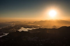 Sunset in Barra da Tijuca Stock Photo