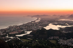 Sunset in Barra da Tijuca Royalty Free Stock Images