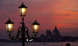 Sunset on the Basilica della Salute Stock Photo