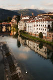 A Swan and Sunset in Bassano del Grappa, Italy Stock Photos