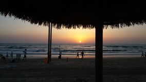Sunset in Batyam stock photo