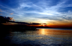 Sunset at the Bay Stock Photos
