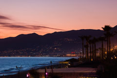 Sunset in the Bay of Alanya Stock Images