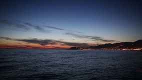 Sunset in the bay of Alanya stock video footage