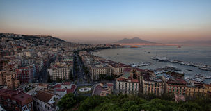 Sunset bay of Naples Royalty Free Stock Photography