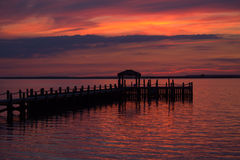 Sunset at the Bay Royalty Free Stock Photography
