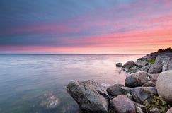 Sunset on the Bay of Puck Royalty Free Stock Images