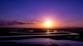 Sunset-Bayanbulak Grassland Stock Images