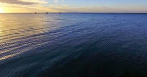 Sunset at Bayfront Park in Daphne, Alabama. Dusk at Eastern shore park of Mobile Bay Royalty Free Stock Photo