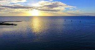 Sunset at Bayfront Park in Daphne, Alabama. Dusk at Eastern shore park of Mobile Bay Royalty Free Stock Photos