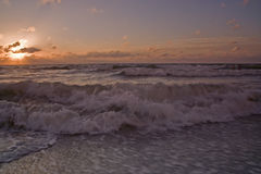 Sunset on the beach. At Clearwater Florida stock photo