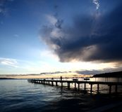 Sunset at beach Royalty Free Stock Photo