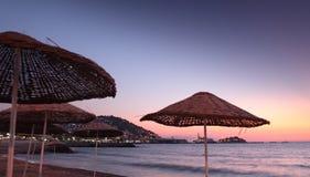 Sunset on a beach Stock Photo