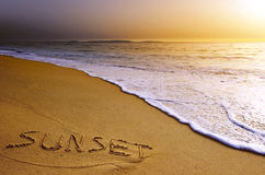 Sunset Beach Royalty Free Stock Image