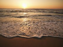 Sunset at beach. Royalty Free Stock Photos