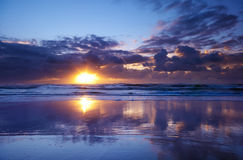 Sunset on the beach Royalty Free Stock Images