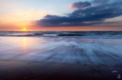 Sunset on the beach Royalty Free Stock Image