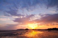 Sunset on beach Royalty Free Stock Photo