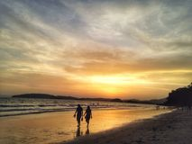 Sunset. And Beach Royalty Free Stock Images