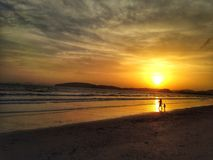 Sunset. And beach Stock Photography