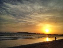 Sunset. And Beach Royalty Free Stock Photo