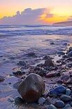 Sunset Beach. Sunset at Ballybrannigan Beach, Co.Cork, Ireland Royalty Free Stock Photos