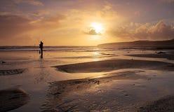Sunset Beach. Sunset at Ballybrannigan Beach, Co.Cork, Ireland Stock Images