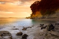 Sunset Beach Royalty Free Stock Images