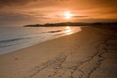 Sunset at beach Stock Photos